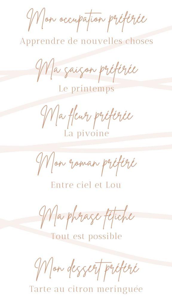 Questionnaire de Proust - Une Bougie Dans Le Vent