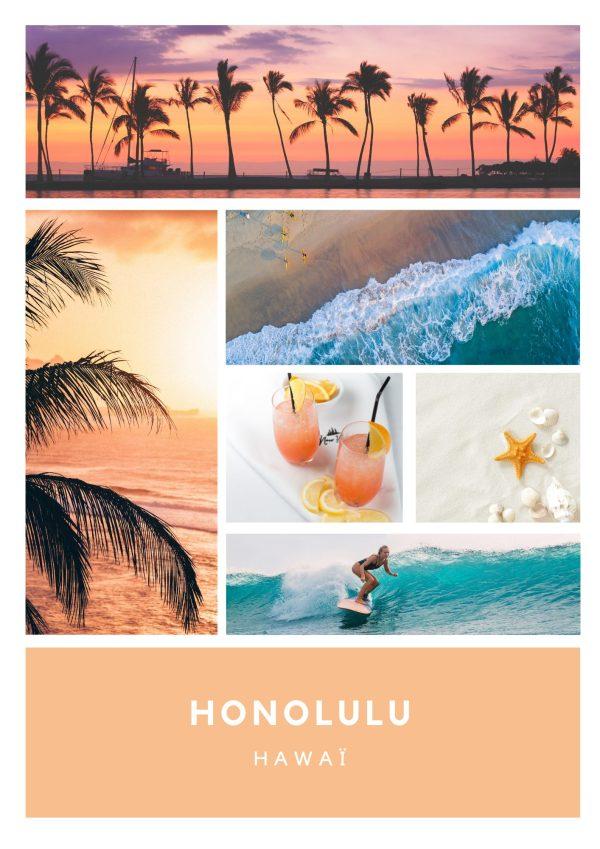 La bougie HONOLULU, à la douce odeur de pêche, vous captivera pour un aller sans retour vers la belle destination ensoleillée d'Hawaï.