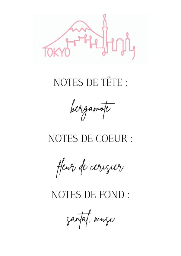 La bougie TOKYO, à l'odeur fleurie et douce de fleur de cerisier, vous transportera dans un voyage olfactif vers le Japon dès les premiers instants de diffusion.