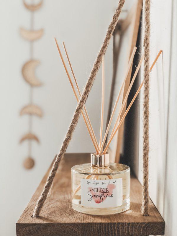 Les diffuseurs sont un moyen naturel et écologique de parfumer délicatement votre intérieur. Grâce à ses 6 batônnets en rotin, profitez d'une odeur enivrante dans votre intérieur tout au long de la journée.