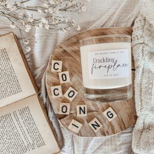 Crackling fireplace – Feu de bois